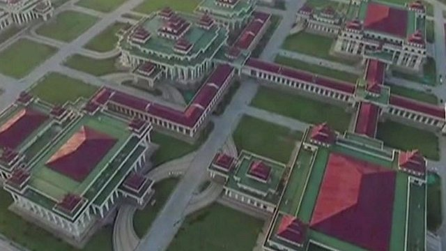 Drone footage of new parliament building