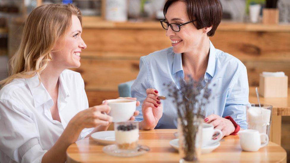Women in a cafe