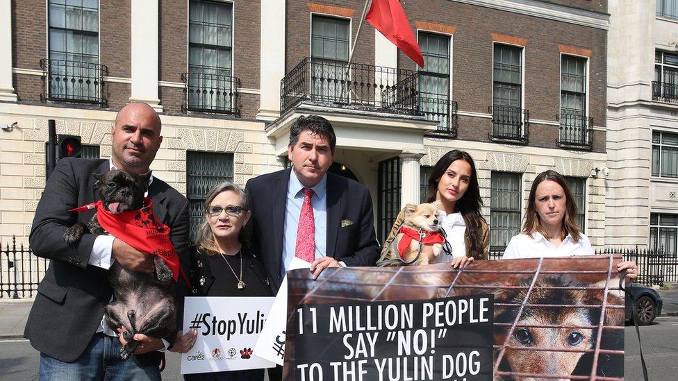 玉林狗肉節2016年也曾經成為示威者抗議的主題。