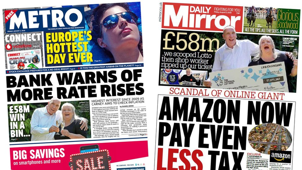 News Daily: Amazon tax bill falls and Zimbabwe result ...
