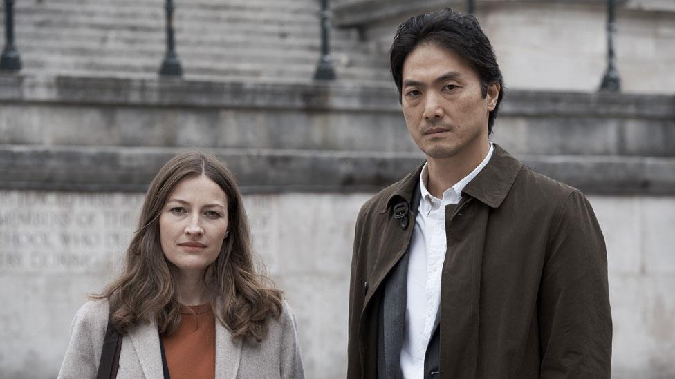 Kelly Macdonald with Giri/Haji co-star Takehiro Hira