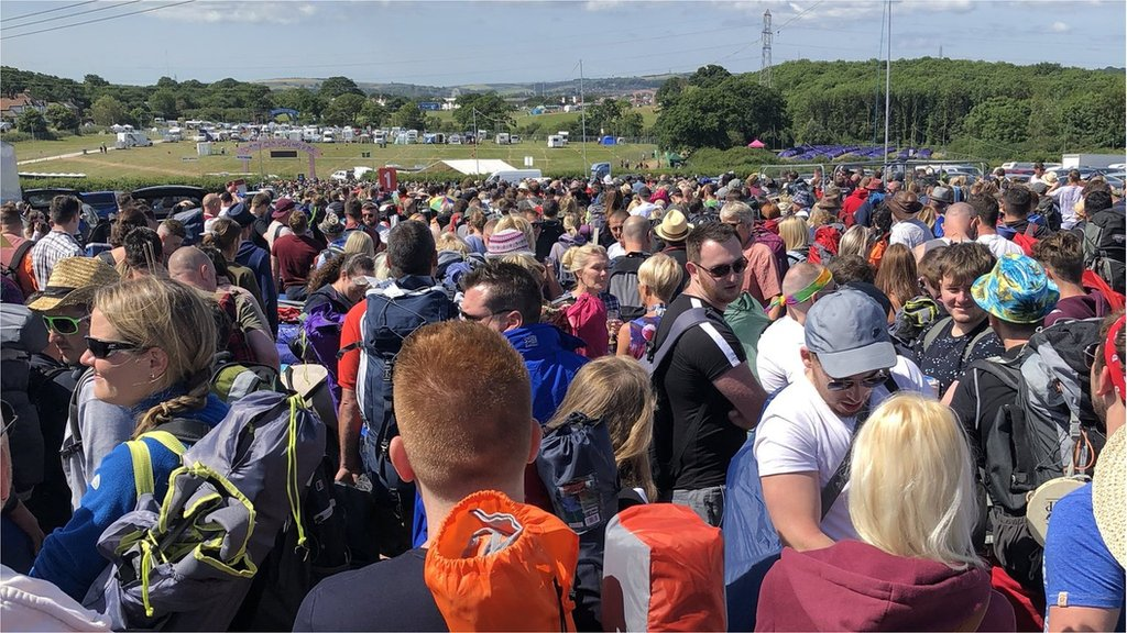 Isle of Wight festival: Anger over huge queues