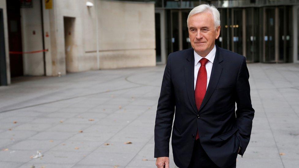 وزير الخزانة في حكومة الظل جون ماكدونل يصف تعليق البرلمان بالانقلاب
