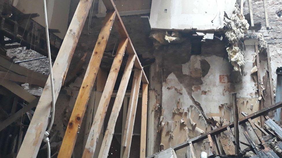 Damage to Plaza Hotel