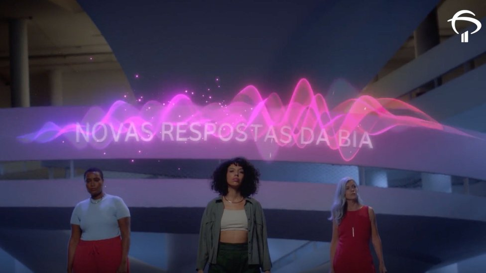 A TV ad by Bradesco showing shows actors looking empowered