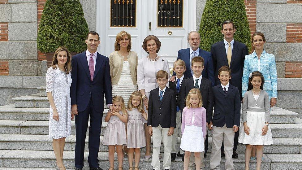 Familia Real española en 2011.