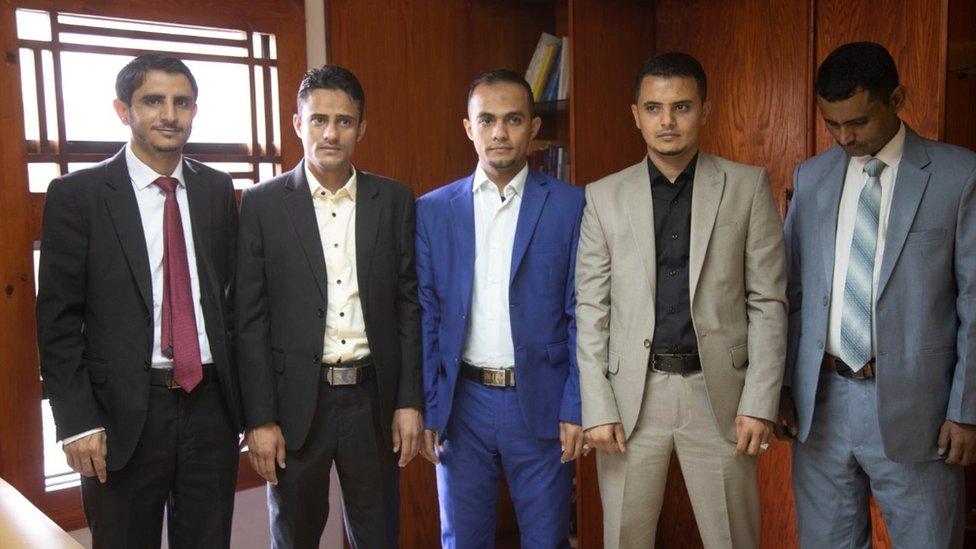 صحفيون يمنيون مفرج عنهم