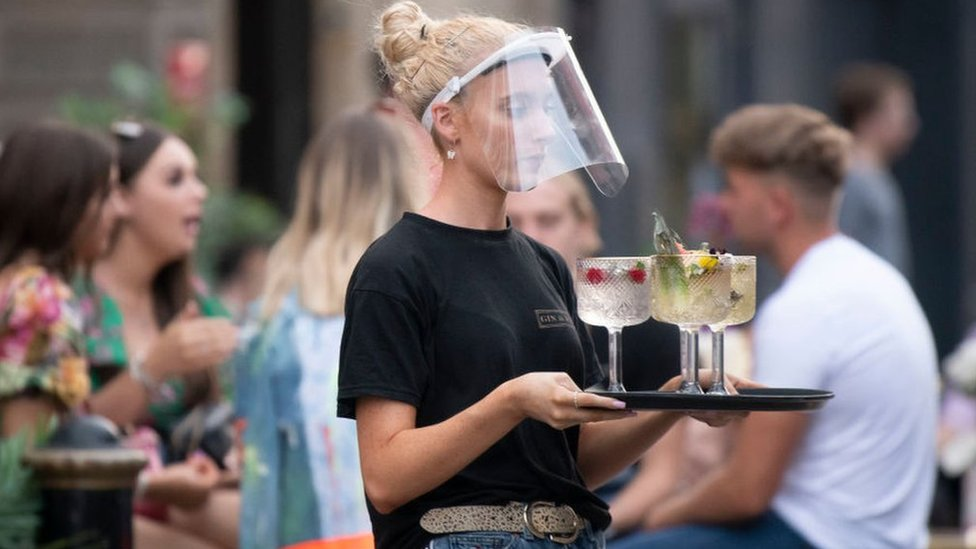 Waitress with drinks