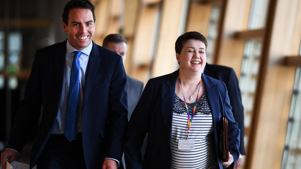 Maurice Golden and Ruth Davidson