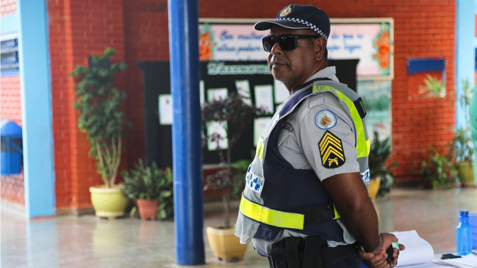 Police officer at the Educational Centre 308