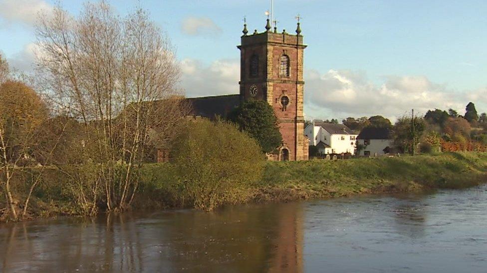 St Dunawd's Church at Bangor on Dee