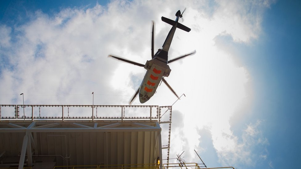 Oil industry helicopter