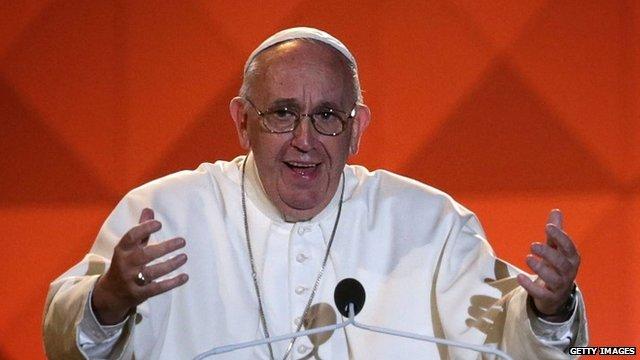 Pope Francis speaks at the Festival of Families in Philadelphia