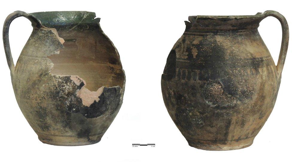 Vasijas de cerámica.