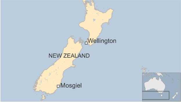 Map of Mosgiel in New Zealand