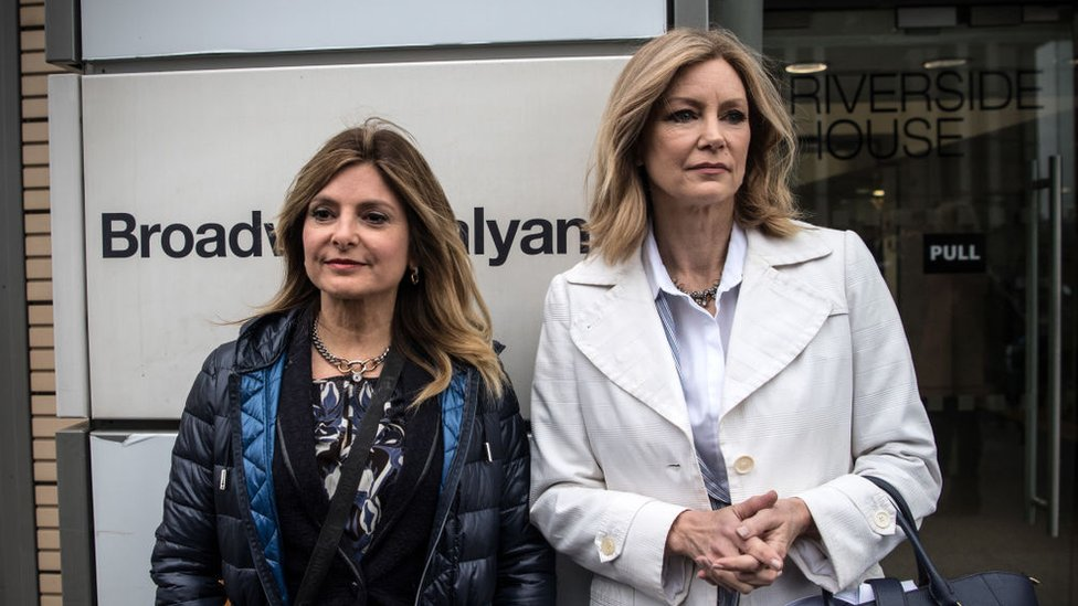 Dr Wendy Walsh (right) and lawyer Lisa Bloom in London