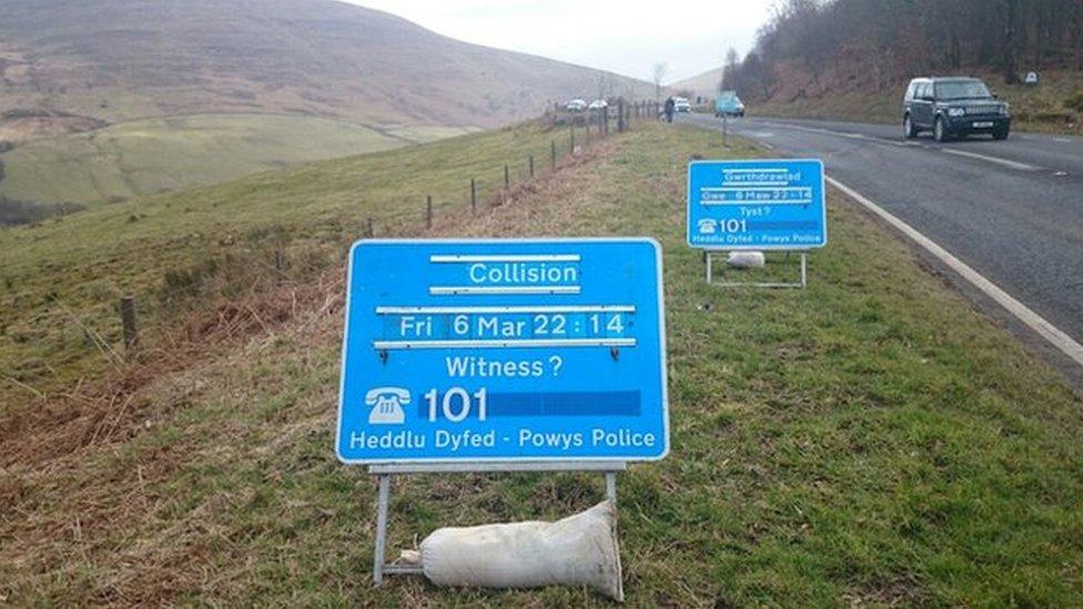Powys crash site near Storey Arms