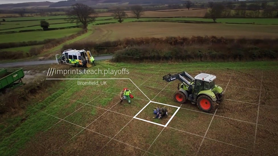 Grid on field where farmer injured