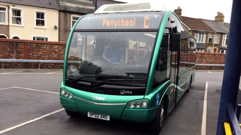 Electric public transport drive by Caerphilly council