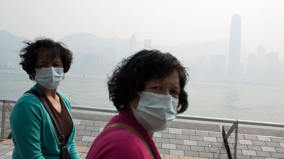 Polluted Hong Kong skyline. Photo by Lam Yik Fei/Getty Images