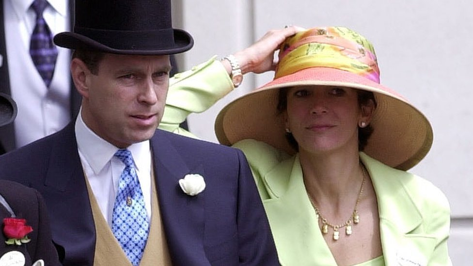 Prince Andrew and Ghislaine Maxwell attended Ascot in June 2000.
