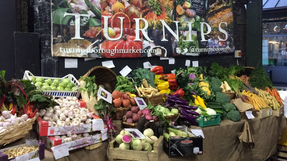 Mr Foster's fruit and vegetable stall
