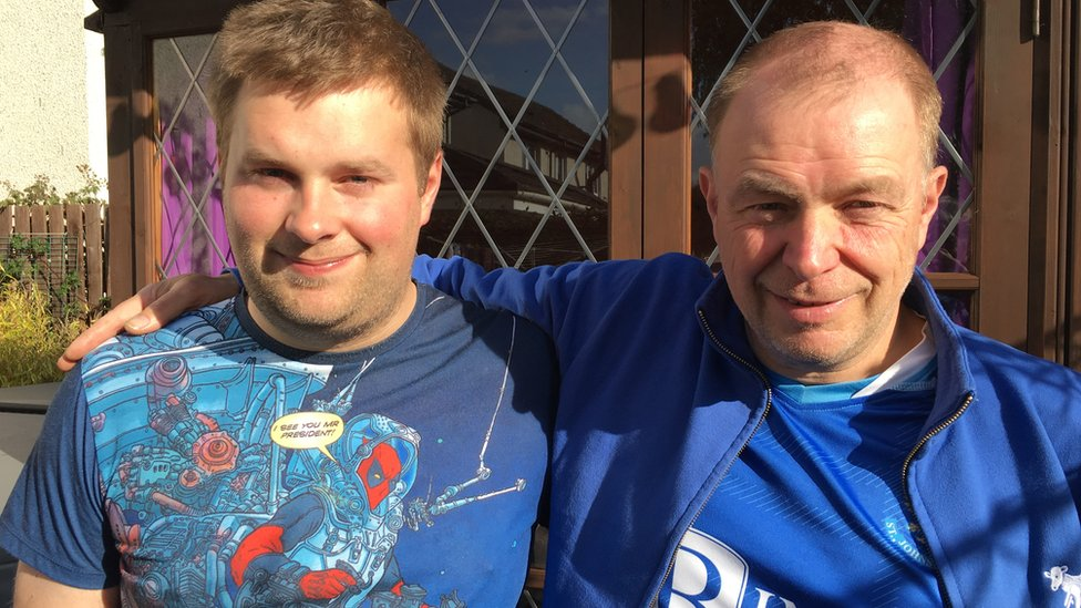 Peter Holden and his dad Andrew are St Johnstone fans
