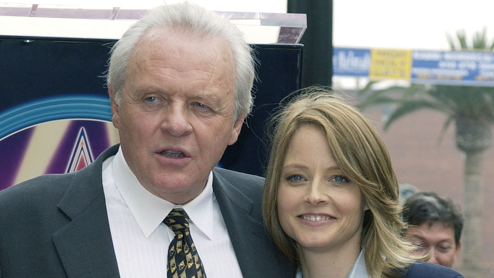 Jodie Foster with Sir Anthony Hopkins