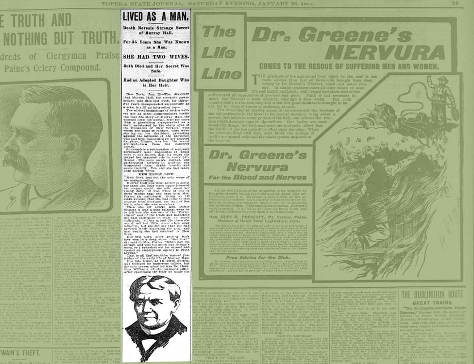 Artículo en el Topeka State Journal, fechado el 26 de enero de 1901