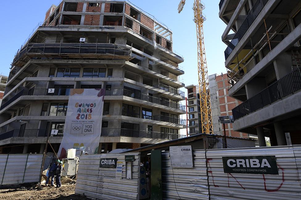 Una construcción en Buenos Aires