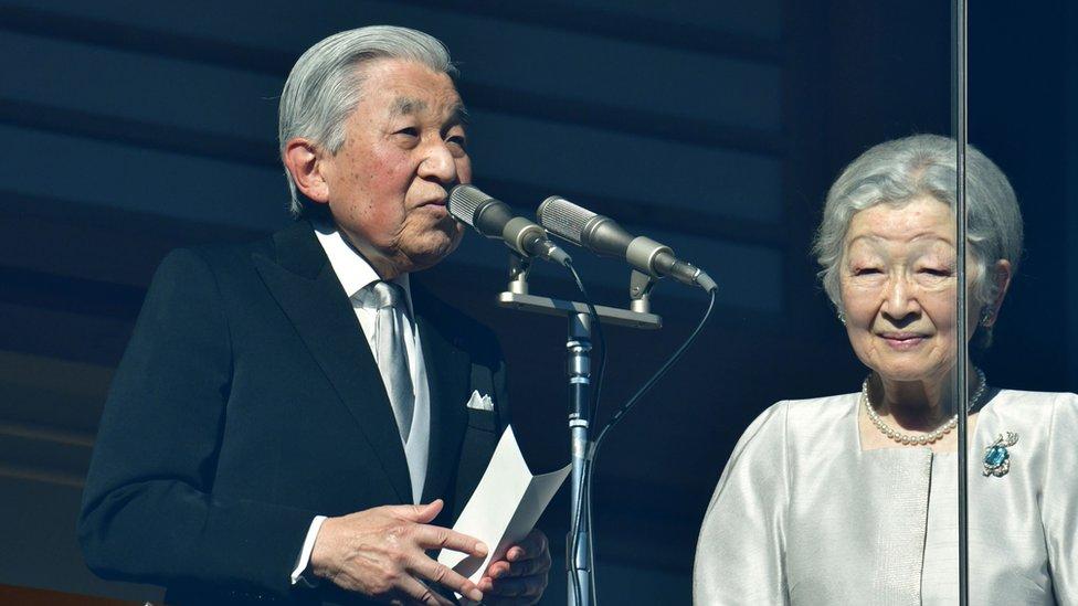 2019年1月2日,日本明仁天皇和皇后美智子在皇宮發表新年致辭。