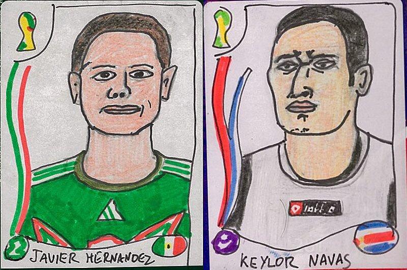 """""""Chicharito"""" Hernández y Keylor Navas"""