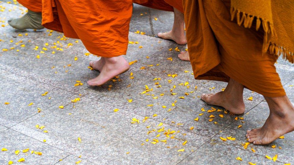 Monjes en el sur de Vietnam