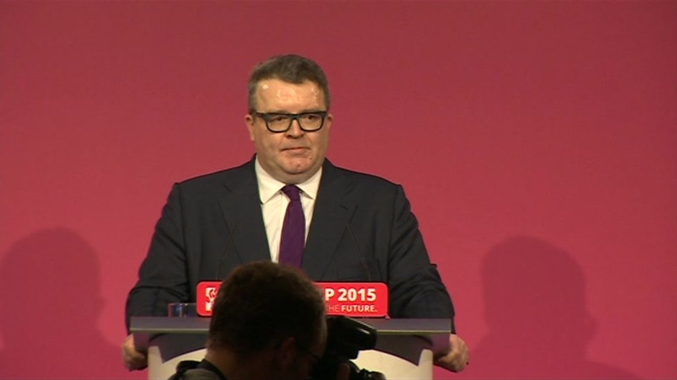 Tom Watson MP in his victory speech as Deputy Labour Leader