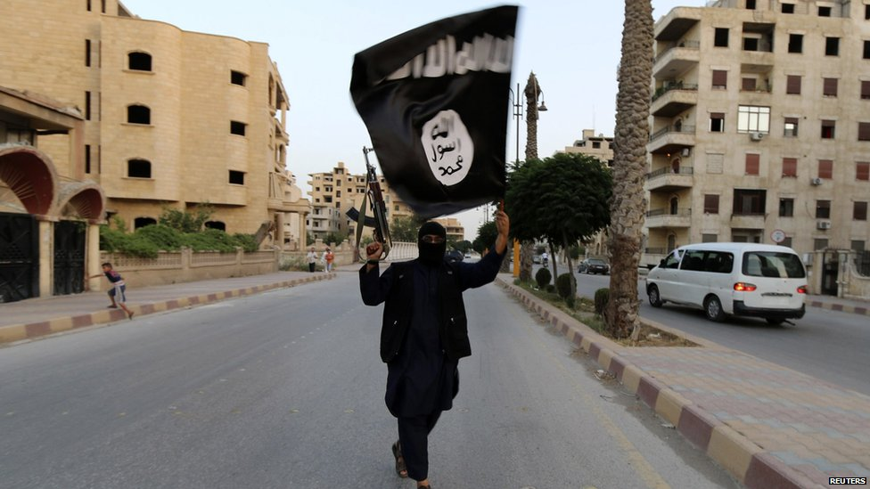 IS fighter in Raqqa, Syria