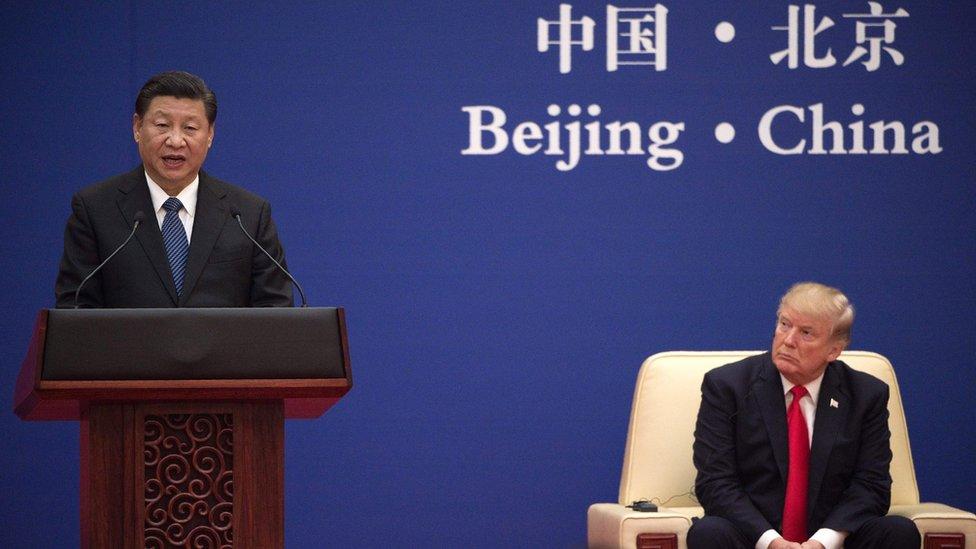 Xi Jinping y Trump en una cumbre en Pekín.