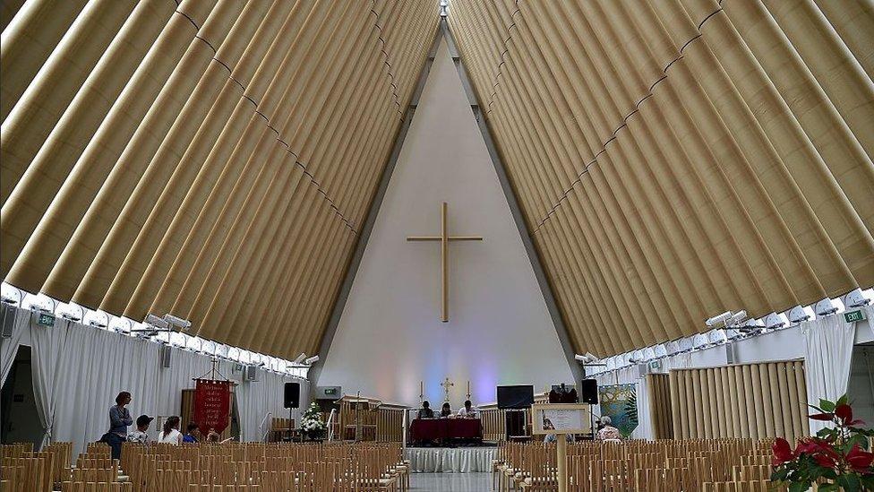 Christchurch cardboard cathedral
