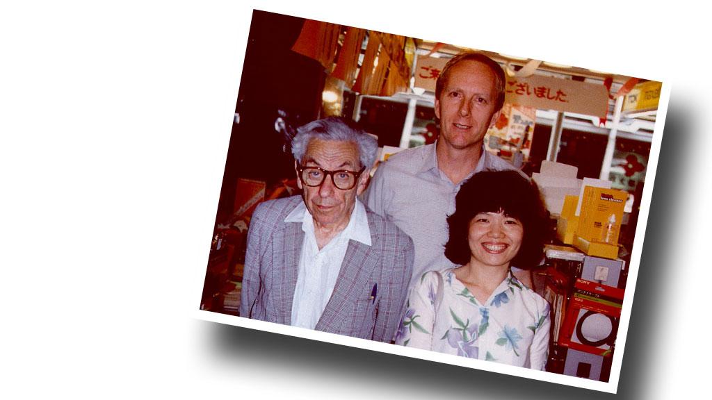 Erdős con Fan Chung y Ronald Graham en Japón de 1986.