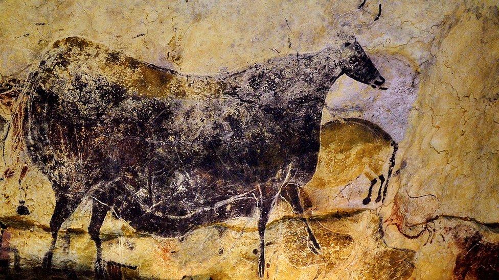 Pintura en la cueva de Lascaux.