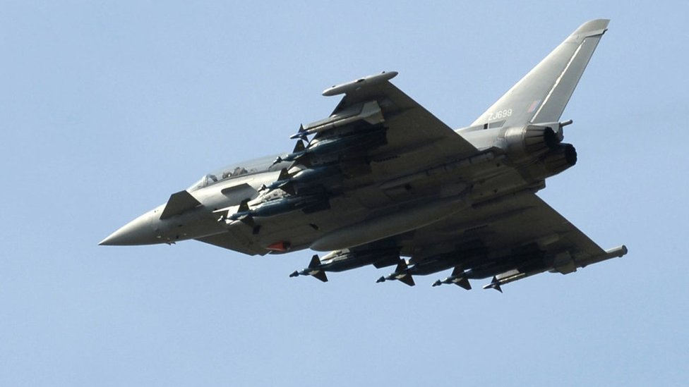 RAF Lossiemouth Typhoons avoided collision at last second