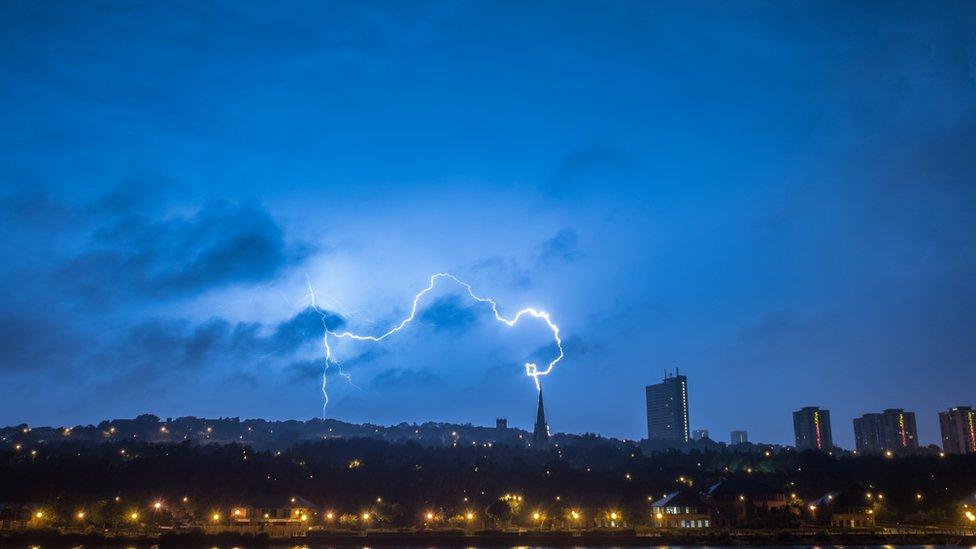 Lightning in Newcastle