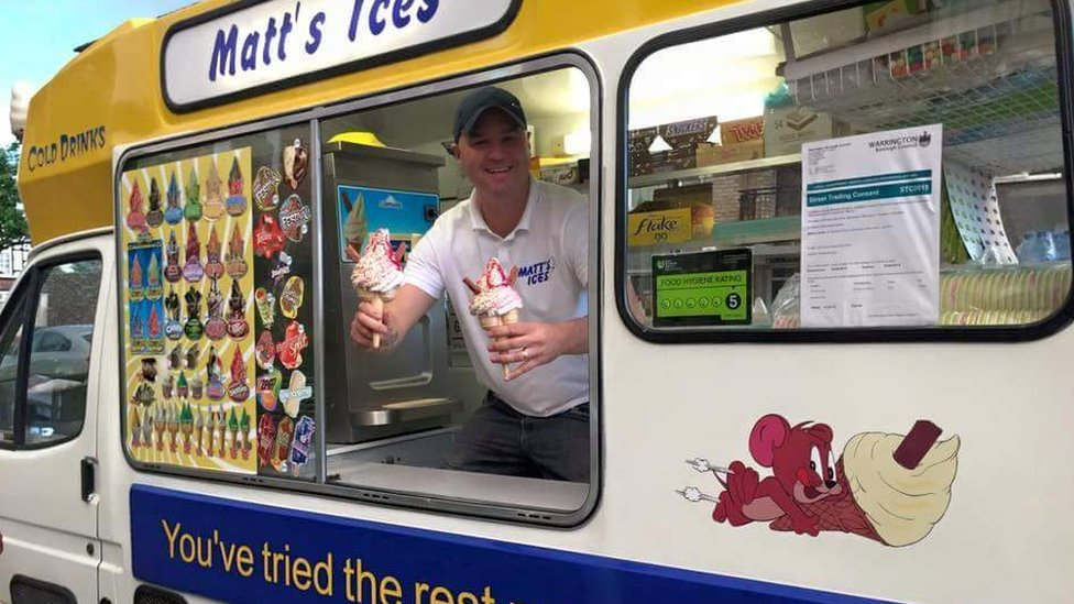 Warrington ice cream man treats hospice staff and patients