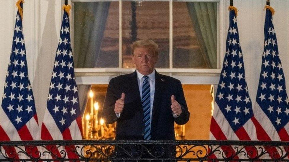 Trump di Gedung Putih, tanpa masker