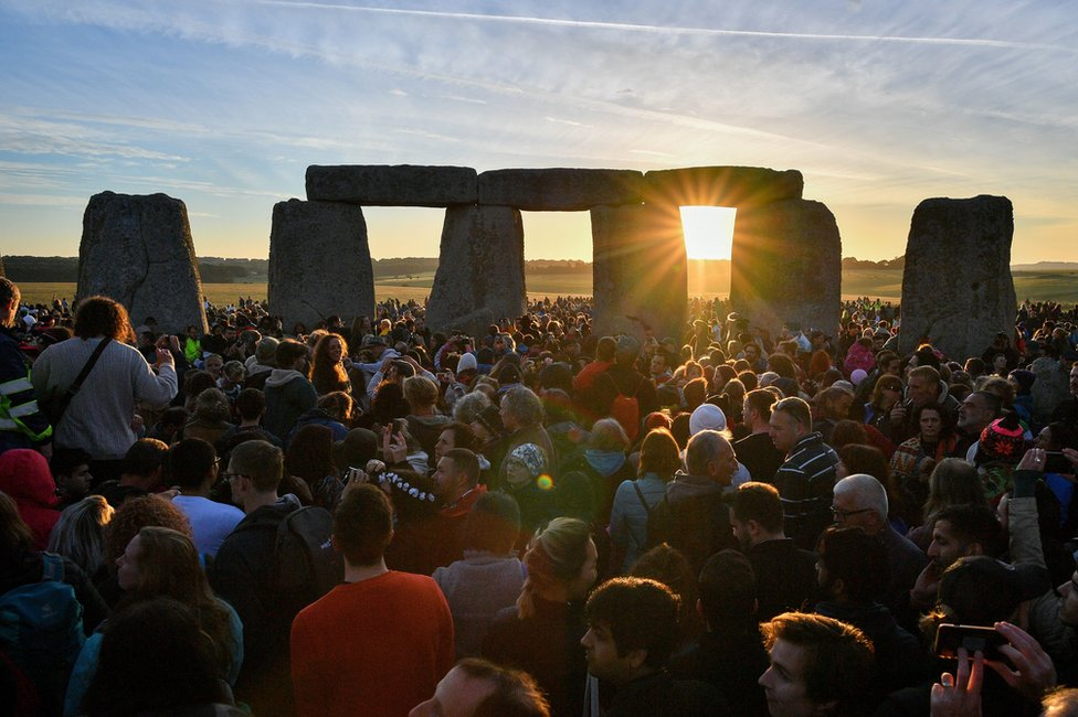 Summer solstice at Stonehenge, England