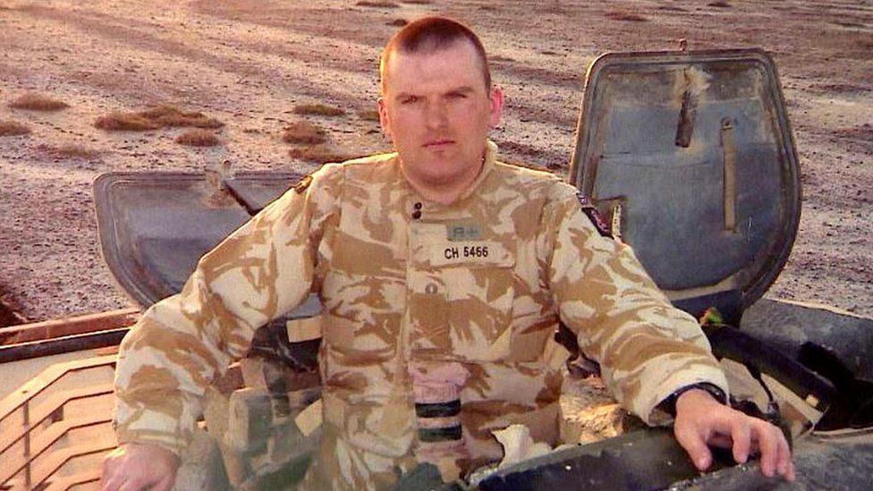 Andrew Christie in Iraq