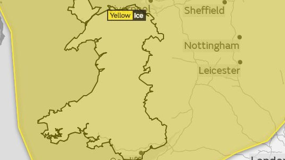 Met Office issues yellow weather warning for ice