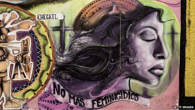 Mural reading 'No More Femicides' in Ecatepec, Mexico State