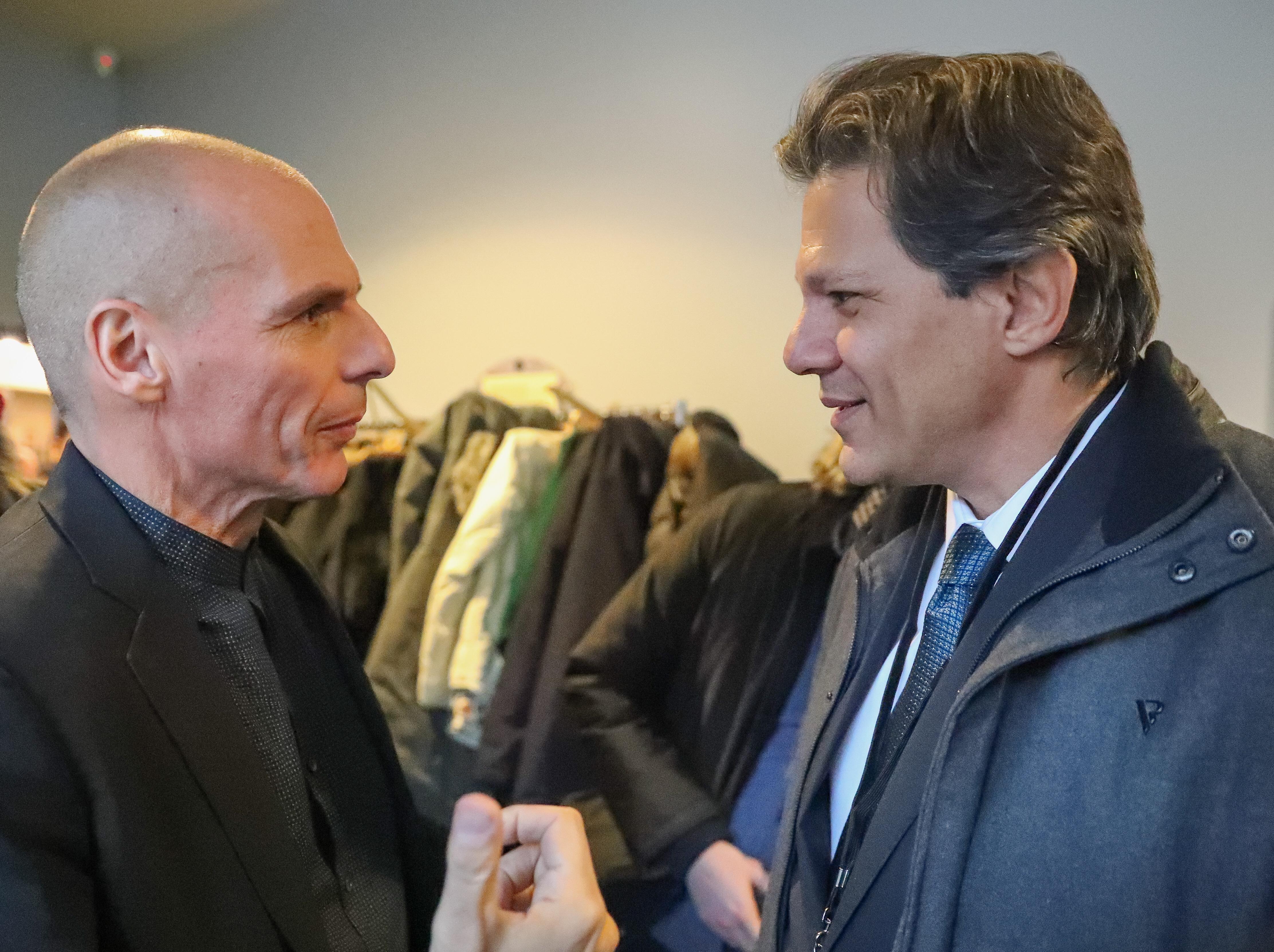 Yanis Varoufakis y Fernando Haddad