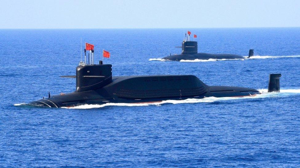 Submarinos nucleares chinos.