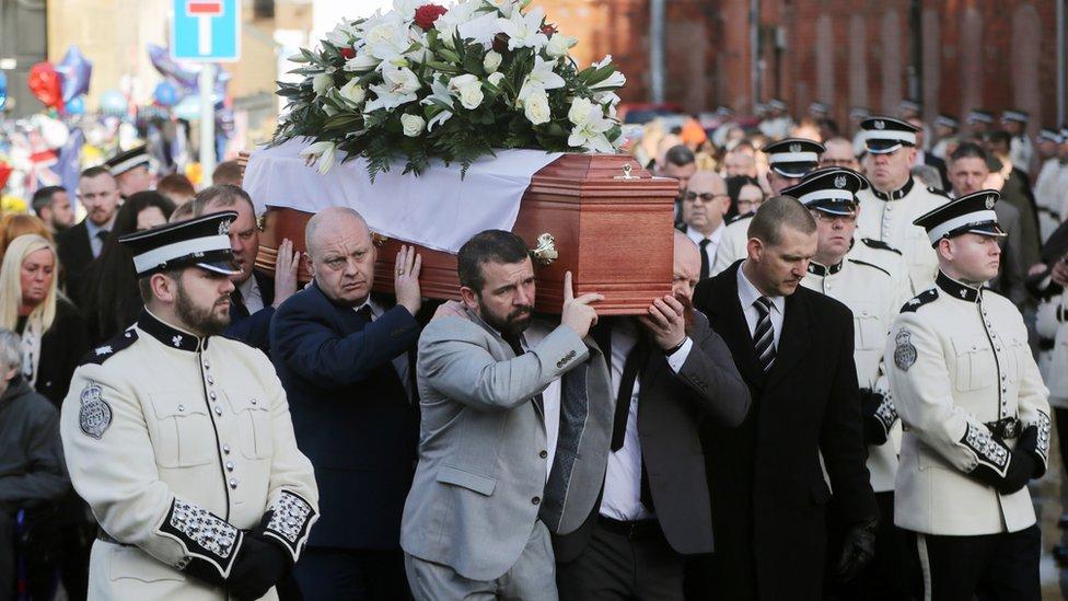 Ian Ogle's funeral